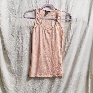 BOZZOLO ROSE LACE SHEER BACK TANK TOP